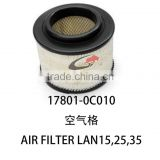 latest air filter lan 17801-0C010 of toyota hilux double cab