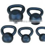 Solid Black Cast Iron Kettlebell for Full Body Workout, Weight Loss and Strength Training