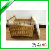 Popular bamboo storage bench for bathroom
