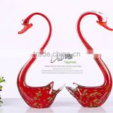 AAA high quality new design different colors best seller factory directly sale competitive goods crystal couple swan