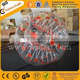 Colorful dots transparent bubble football inflatable bumper ball TB200