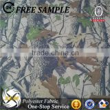 Forest camouflage pattern fabric with pvc coated