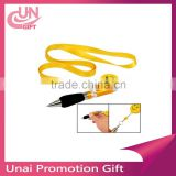 Creative advertising pen custom lanyard notes wholesale for student a good writing ball point pen
