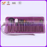 20 pcs Cosmetic Brush Set with Natural Hair and Synthetic Hair