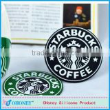 wholesale promotion decorative PVC cup mat,PVC cup coaster,starbucks PVC cup placement