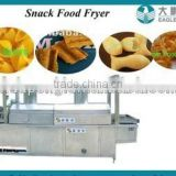 Best price snack chips /nuts /cheetos /peanuts/3D pellets continuous fryer/frying machine