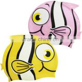 100% Silicon Fish Shapes Swimming Cap LS Eplus
