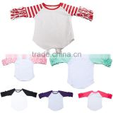 Wholesale Children Clothing Blank Tshirt T Shirt Tee Icing Manufacturer Online Girl Ruffle Raglan