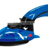high pressure vertical travel steam iron with brush attachment and with 800W