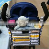 Best stroller bag organizer for car,Fits all strollsers,Storage space for cup,diaper,book,toys
