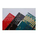 Red / Blue / Black Double Layer Aluminium Base PCB Boards , High Tg Electronic CCTV PCB