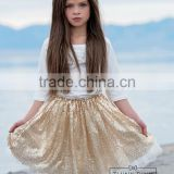 baby first birthday Pageant Girls Kids Gold Skirt posh Sequin Tutu skirt silver Sparkle Shimmer pettiskirt
