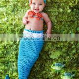 Handmade Crochet baby Mermaid Tail set Baby Sleeping Sack
