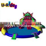outdoor inflatable water splash park with slide for sale