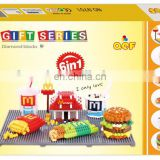 Mcdonald's Restaurant Building Blocks Mini Figure Nano Block Food Set