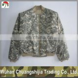 digital camouflage rip-stop flight jacket