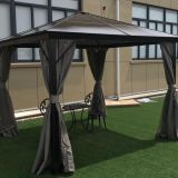 Aluminum Sunlight Board Garden Gazebo Metal Type Pavilion Park Leisure Tent