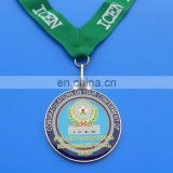 cusotm metal enamel epoxy silver college medal medallion, institute of chartered economists of nigeria