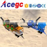 Mobile sea/marine sand desalting cleaning washing 3 times machine