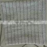 70*100cm Stock Ready to Ship Cheap Organic Stock Grey and White Outdoor Stroller  Stripe Summer Knit Blanket Baby Blaneket
