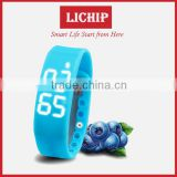3D Pedometer OLED Sleeping monitor date&time colorie Temperature bluetooth LC- W2 smart wrist band