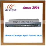 24ports SFP Opitcal Fiber Gigabit Ethernet Network Switch                                                                         Quality Choice