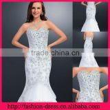 Mermaid Sweetheart and Strapless Floor Length Dazzling Beads and Jewels over the Bodice Evening Sequins Beaded Dresses
