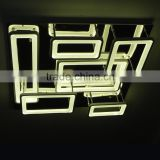 Modern LED Chandelier Lights Acrylic 5 Rectangles LED Suspension Light Lamp for Living Room Dinning Room new singular Chandelier