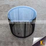 Modern Design garden outdoor wicker furniture tea table glass coffee table with light bule glass