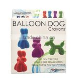 New Cute Balloon dog shaped crayons set for kids little hands drawing