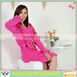 2014 China alibaba manufacture winter cares customized ultra-durable coral fleece bathrobe wholesale