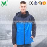 YANLI blue-black nylon jacket raincoat with a receive bag