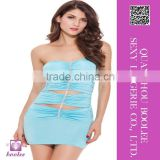New arrival wholesale sexy ladies clubwear chest wrapped skirt for woman