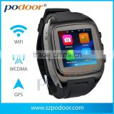 podoor 3g android 4.0 watch phone gps 3g G sensor, a GSM/WCDMA 3G android 4.2 watch phone cell phone watch
