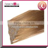 2014 Best sale free sample 100% virgin softy sexy cheap clip in layer hair extension