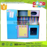 2015 new design pretend play kids wood kitchen furniture toys