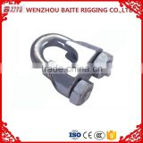 Factory price Galvanized Powder coated us type drop Din 741 metal Wire Rope Clip