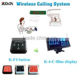 numbering machine with led display receiver and table call bell for restaurant equipment