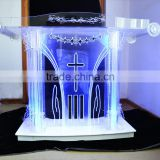 GH-4769 factory price modern design clear acrylic church pulpit                                                                                                         Supplier's Choice