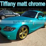 High Quality Blue Matte Chrome Vinyl Car Sticker Luxury new chrome wrapping foil air free 1.52m*20m