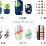 Full Self Adhesive Polish Foils Decoration Art Decals , NAIL WRAPS STICKERS, nail art stickers