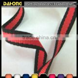 Fashion assorted black and red polyester webbing strap