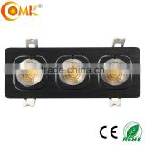 Adjustable 3*5W COB led grill light brushed black rectangular led decorative grille panel