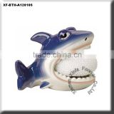 unpainted pottery shark soap scrubby holder