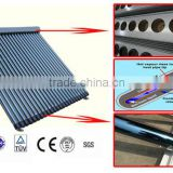 manifold collector type and stainless steel or aluminum alloy pipe material evacuated tube solar collector