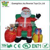christmas inflatable santa claus,inflatable animal christmas sitting on the chair
