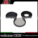 52mm 3 Pieces Camera CPL Filter+Adapter Ring+Lens Cap Kit For Gopro Hero4 For Xiaoyi Camera
