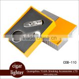 Guangzhou YuJia COHIBA 3 TORCH JET FLAME CIGAR LIGHTER With PUNCH and CIGAR CUTTER ONE SET