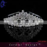 2013 Hotsale fashion wedding bride alloy crystal royal crowns and tiaras bridal crown combs hair jewelry