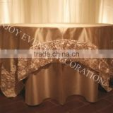 YHT#159 rosette satin polyester banquet wedding wholesale cheap table cloth overlay                                                                         Quality Choice